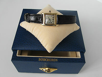 1950s Boucheron Solid Gold 14 or 18K watch Special Order serial number 85054
