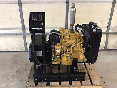 New 15 Kw Generator Caterpillar C1.5 Diesel Tier 4 120208 Volt Re-connectable