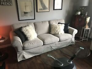 IKEA Couch and Microfibre Love Seat