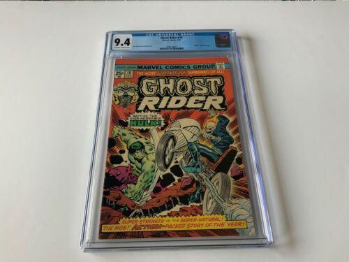 GHOST RIDER 10 CGC 9.4 HULK VS GHOST RIDER! MARVEL COMICS 1975