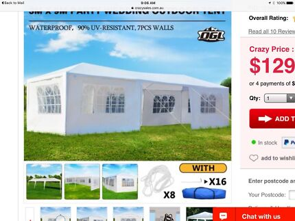 Party wedding outdoor tent - 3m X 9m