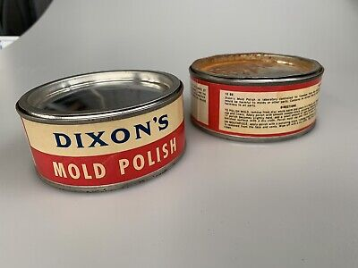 2 Vintage tins DIXONS MOLD POLISH New Jersey One still full 2nd Mostly Full