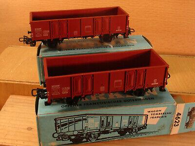 2x  Märklin 4623 Offener Französchier Güterwagen