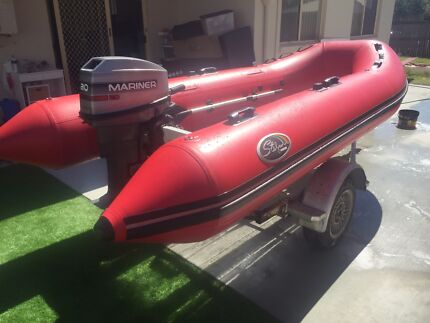 3.5m inflatable boat ,tender, 20hp outboard