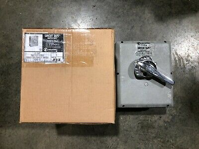 Industrex Jf21 Heavy Duty Disconnect Circuit Safe Switch Fusible 30amp