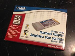 D-LINK DUAL BAND DWL-AG660 WIRELESS LAPTOP ADAPTER