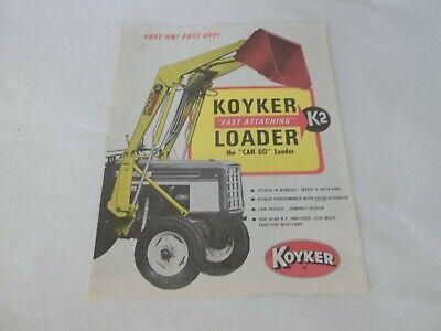 Koyker Fast Attaching K2 Loader Sales Brochure