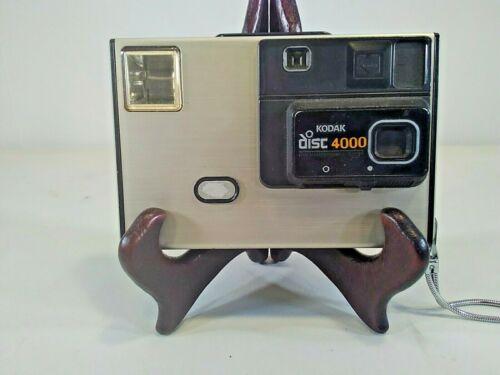 Vintage Kodak disk 4000 camera silver strap camera only