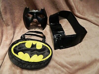 Batgirl Costume Accessories (Bat Girl Fancy Dress Accessories Bundle, Mask,Belt And Bat Girl)