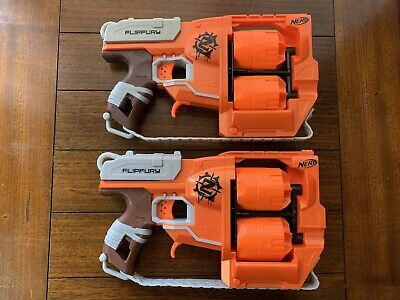 Nerf Zombie Strike Flipfury Dart Gun Blaster Flip Fury Lot Of 2!