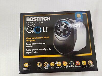 Bostitch Quietsharp Glow Classroom Electric Pencil Sharpener Silverblack