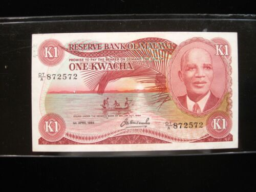 MALAWI 1 KWACHA 1984 AFRICA TEA SHARP 572# Currency Bank Money Banknote