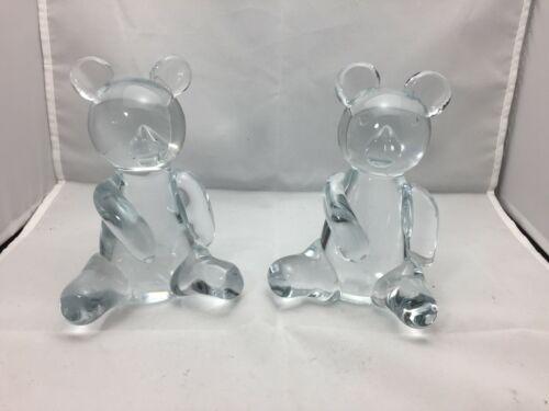 Glass bears set of 2