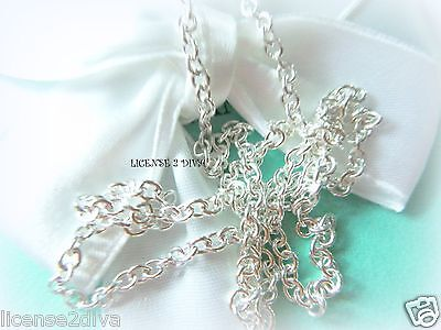 "TIFFANY & CO. STERLING SILVER NEW 18"" CHAIN THICKEST PENDANT CHAIN TCO STURDY"