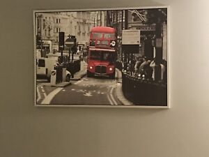IKEA Picture of England - black/white/red