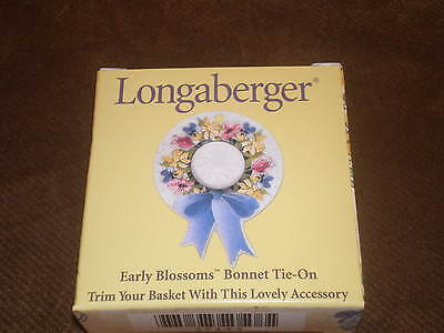 Longaberger 2000 Mother's Day Bonnet Basket Tie-On
