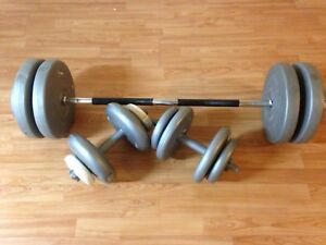 180 lbs With Dumbbells and Ez Bar