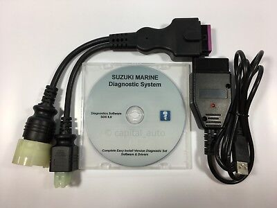 For Suzuki Outboard Boat Marine Diagnostic USB Cable Kit SDS 8.0