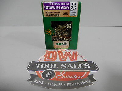 Spax Screws Made In Usa 2 12 X 10 Washer Head 5lbs Interior Cabinet