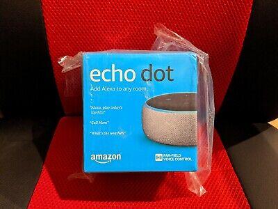 New Amazon Echo Dot 3rd Generation with Alexa, Ship ASAP, Grey