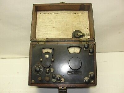 Vintage Lab Leeds Northrup 89548 Potentiometer W Wooden Box Laboratory