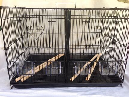 BRAND NEW cage only - 2 in 1 $50ea with divider #larger size now avail