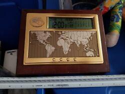 SEIKO LOS ANGELES RAMS EXECUTIVE DESK WORLD TIME DIGITAL CLOCK/CALENDAR