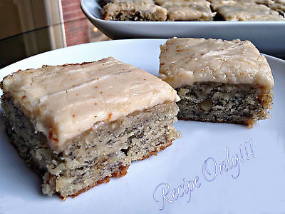 Recipe  Banana Bread Bars With Brown Butter Frosting Dense Ridiculously Moist