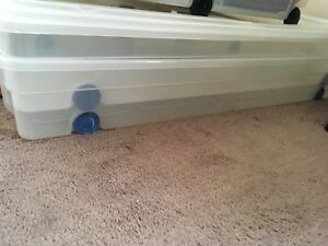 Free under the bed boxes