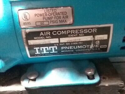 Itt Pneumotive Gould Lgh-406-x Air Compressor Pump