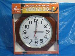 Skilcraft Chicago Lighthouse Radio Controlled Atomic Clock - NEW
