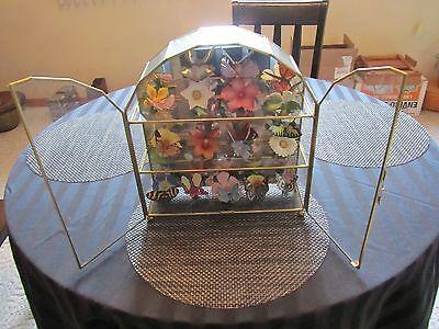 Franklin Mint Butterflies of the World 15 Porcelain Sculptures w/ Display &Cards