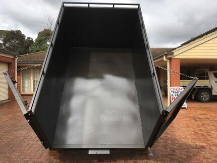Skip bin trailer bin