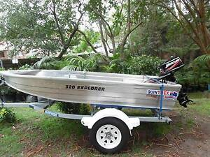 2014 Quintrex Explorer with Boeing Trailer & Mercury 5HP Motor Chatswood Willoughby Area Preview