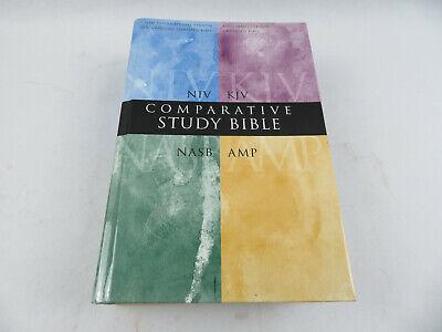 Used, Comparative Study Bible NIV KJV NASB AMP Zondervan Books 1999 HB/DJ 3200+ pgs for sale  Shipping to Canada