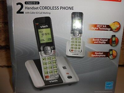 VTech (CS6519) 1.9 GHz Dual Single Line Cordless Phone System w/ Power Supplies