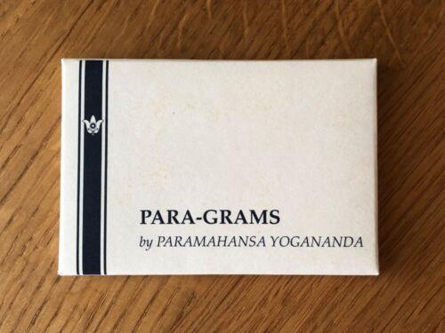Para-Grams by Paramahansa Yogananda 1984 Self-Realization Fellowship
