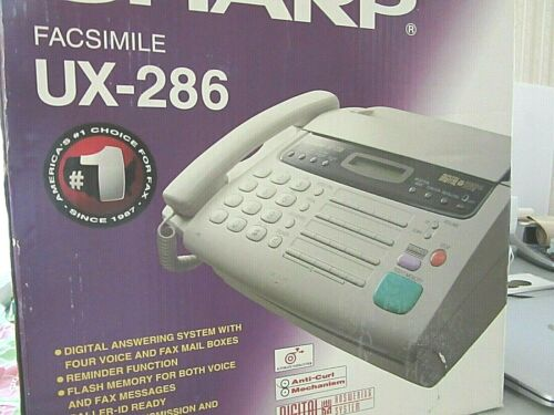 UNUSED-SHARP FACSIMILE UX-286/DIGITAL ANSWERING SYSTEM WITH 4VOICE&FAX MAILBOXES