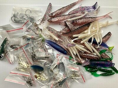 Pike Trout Game Fishing Latex lures and Spinners 90+ITEMS Start BID 0.99p Plugs