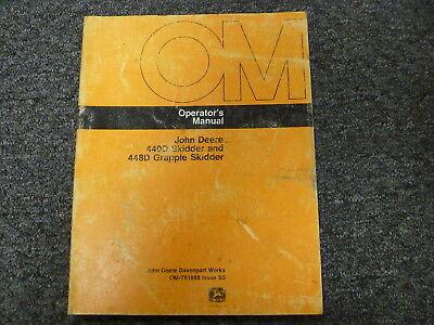 John Deere 440d Skidder 448d Grapple Skidder Owner Operator Manual Omt81888