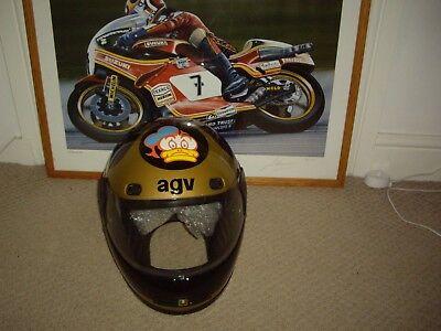 1988 Barry Sheene  AGV,  replica helmet, Suzuki Grand Prix RG500