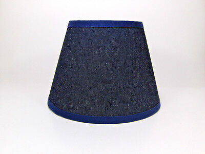 Country Primitive Navy Denim Jean Fabric Lampshade Lamp Shade Denim Lamp Shade
