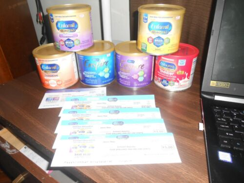 Lot of Enfamil  & enfagrow Formula  and checks