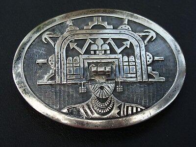 Incredible limited Edition 2 of 16 Sterling Hopi Kachina Buckle  Roy Talaheftewa