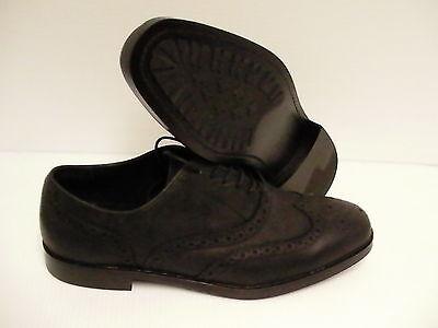 Polo Ralph Lauren Damoin Informal Aderezo Zapatos de Cuero en Negro Talla...