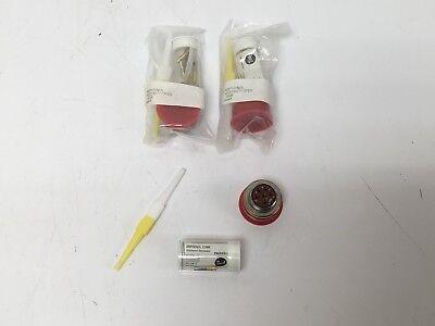 3 New Amphenol Ms27467t17f6s Mil-spec Connectors W Pins M3902956-353