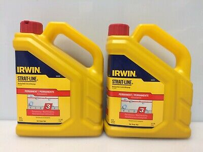 Lot Of 2 Irwin 65202 Strait-line Marking Chalk Refill Permanent 2.5 Lb Red