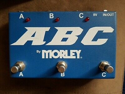 Morley ABC 3-Channel Selector Combiner Guitar Effects Pedal Amp Switch