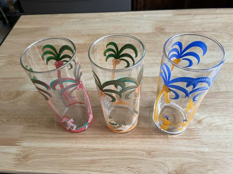 vintage libbey hula girl glasses-3