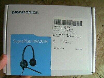 Plantronics SupraPlus HW261N Binaural Noise-Canceling Telephone Headset 64339-31 Plantronics Supraplus Binaural Headset